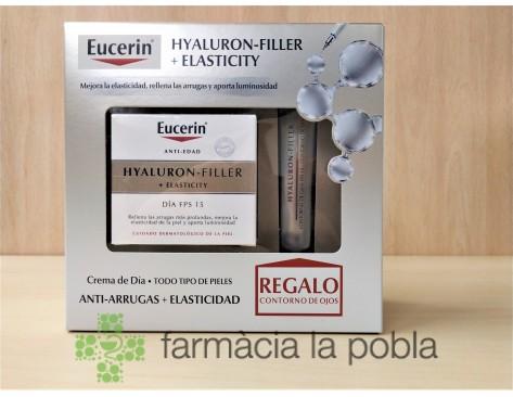 Pack Eucerin Hyaluron Filler + Elasticity + Contorno de ojos