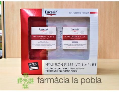 Pack Eucerin Hyaluron Filler Volume Lift Piel normal-mixta