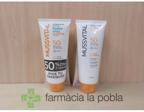 Mussvital pack crema solar SPF 50