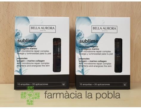 Ampollas oxígeno + colágeno marino Sublime Bella Aurora