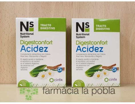 NS Digestconfort Acidez 30 comprimidos